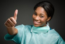 Magnet hospitals - nurse giving thumbs up sign